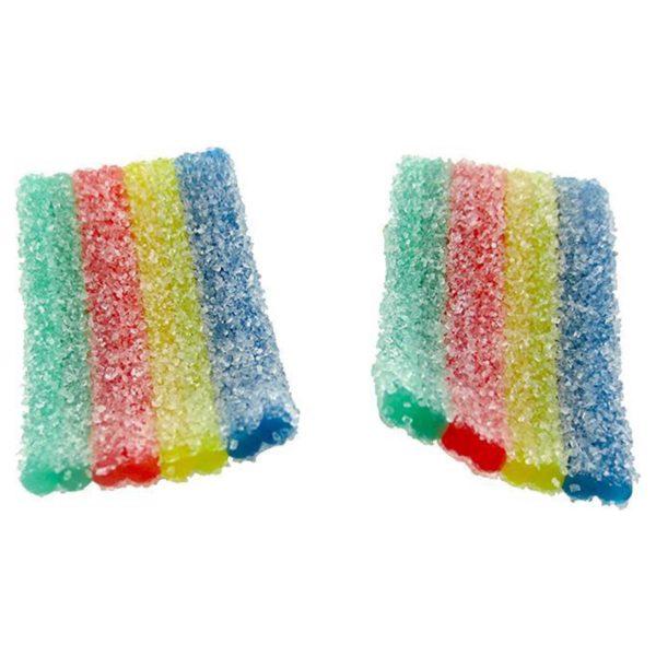 cbd isolate gummies rainbow strips
