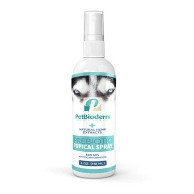 cbd petbioderm prebiotic lotion spray